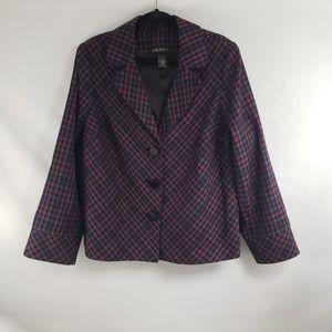 Lane Bryant Jackets & Coats - Lane Bryant Pink and Purple Tweed Blazer